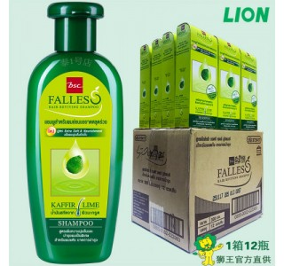 泰国 bsc Falless无硅油萃取莱姆精华防脱干性洗发水 300ml X12瓶/箱 男女通用,包税,包邮