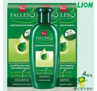 泰国 bsc Falless 无硅油萃取莱姆精华防脱发油性洗发水 180ml [4瓶装] 男女通用, 包邮,包税