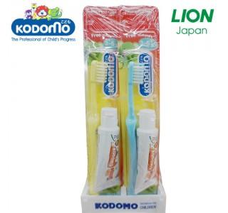 小狮王儿童牙刷+牙膏15克套装 3岁-6岁 X48