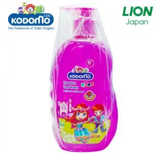 小狮王6岁以上儿童洗头身体沐浴二合一(3瓶粉色浆果味)