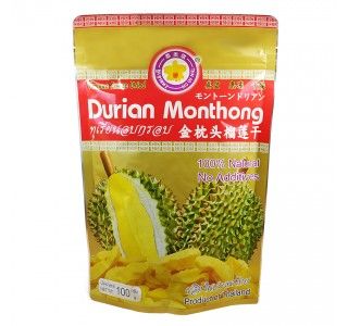 Freeze Dried Durian Monthong 100 gm : 榴莲
