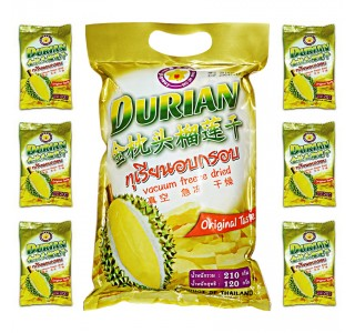 Freeze Dried Durian Monthong 210 gm  : 榴莲